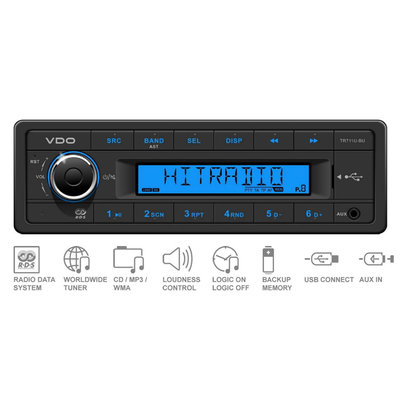 12V FM RDS Tuner with MP3,WMA,USB