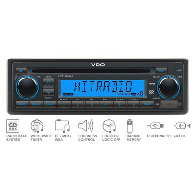 12V FM RDS Tuner with CD,MP3,WMA,USB