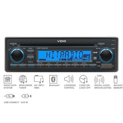 12V FM RDS & DAB Tuner met CD,MP3,WMA,USB,Bluetooth