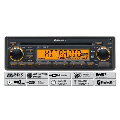 12V FM RDS & DAB Tuner met CD,MP3,USB, Bluetooth