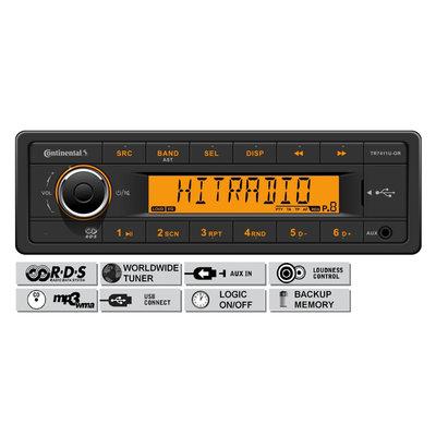 12V FM RDS & DAB Tuner met MP3, WMA, USB