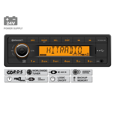 24V FM RDS Tuner met MP3, WMA, USB