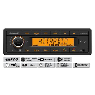 12V FM RDS Tuner met MP3, WMA, USB, Bluetooth