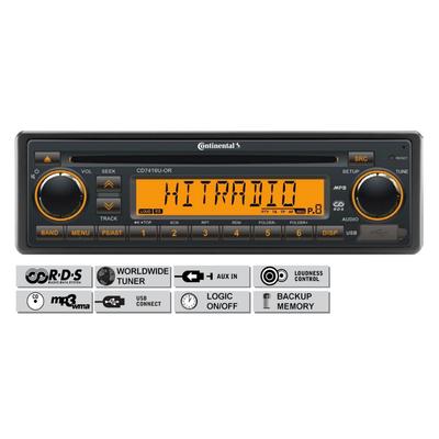 12V FM RDS Tuner met CD, MP3, WMA, USB