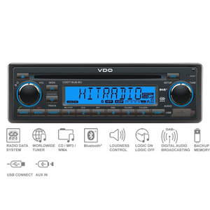 12V FM RDS & DAB Tuner met CD,MP3,WMA,USB,Bluetooth