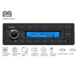 24V FM RDS Tuner met MP3,WMA,USB