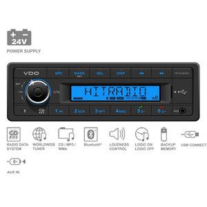 24V FM RDS Tuner met MP3,WMA,USB,Bluetooth