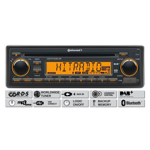 12V FM RDS & DAB Tuner met CD,MP3,USB, Bluetooth